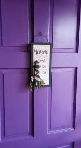 My Purple Front Door - before the secret project begins